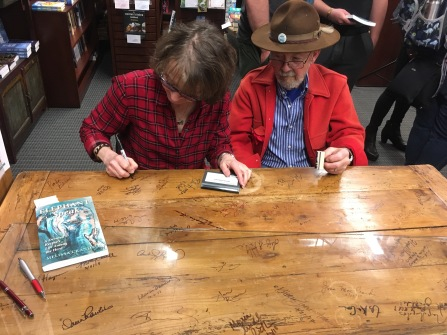 Roundabout Table Signing 2