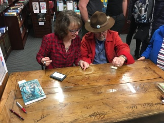 Roundabout Table Signing 3